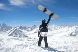 Aussicht auf Skifreizeit, deine Skicamps mit Snowboard